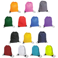 Nylon drawstring sports duffle bag