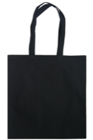 Black 8oz Cotton Canvas Shopper Bag