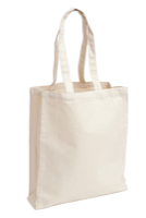 Natural Gussetted 8oz Cotton Canvas Shopper Bag