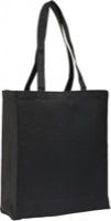 Black Gussetted 8oz Cotton Canvas Shopper Bag