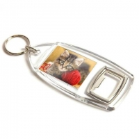 Clear-view Bottle Opener Keyring