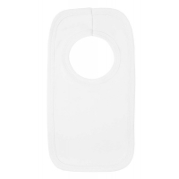 Pull Over Cotton Bibs in White