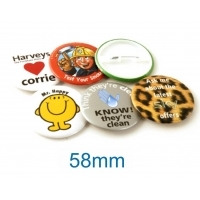 Button Badge 58mm Diameter