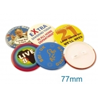 Button Badge 77mm Diameter
