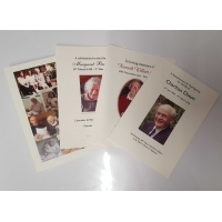 Wedding/Funeral Order of Service Booklets (ivory)